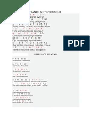 Chord Sholawat Badar : chord, sholawat, badar, Kumpulan, Angka