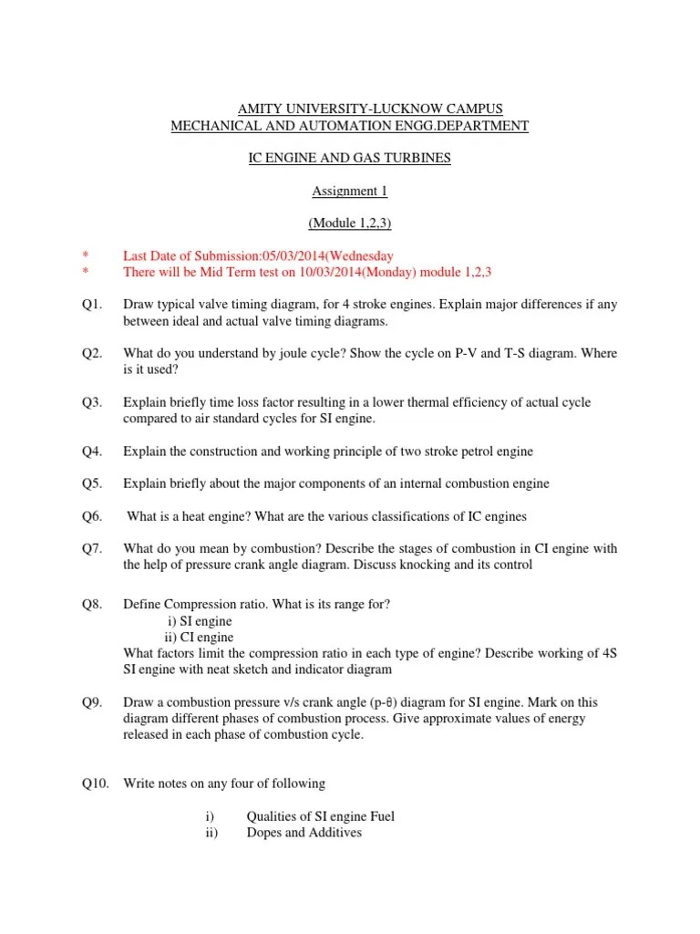 small resolution of 66d7cic engine assignment 1 internal combustion engine diesel engine