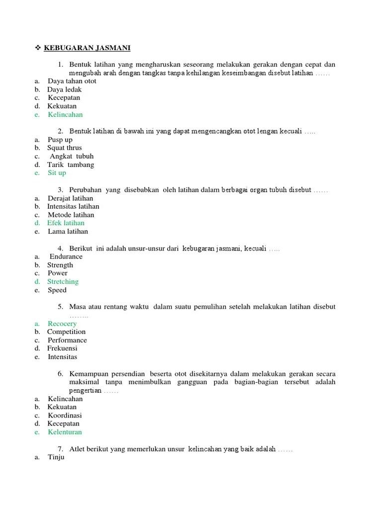 5 Unsur Kebugaran Jasmani : unsur, kebugaran, jasmani, KEBUGARAN, JASMANI