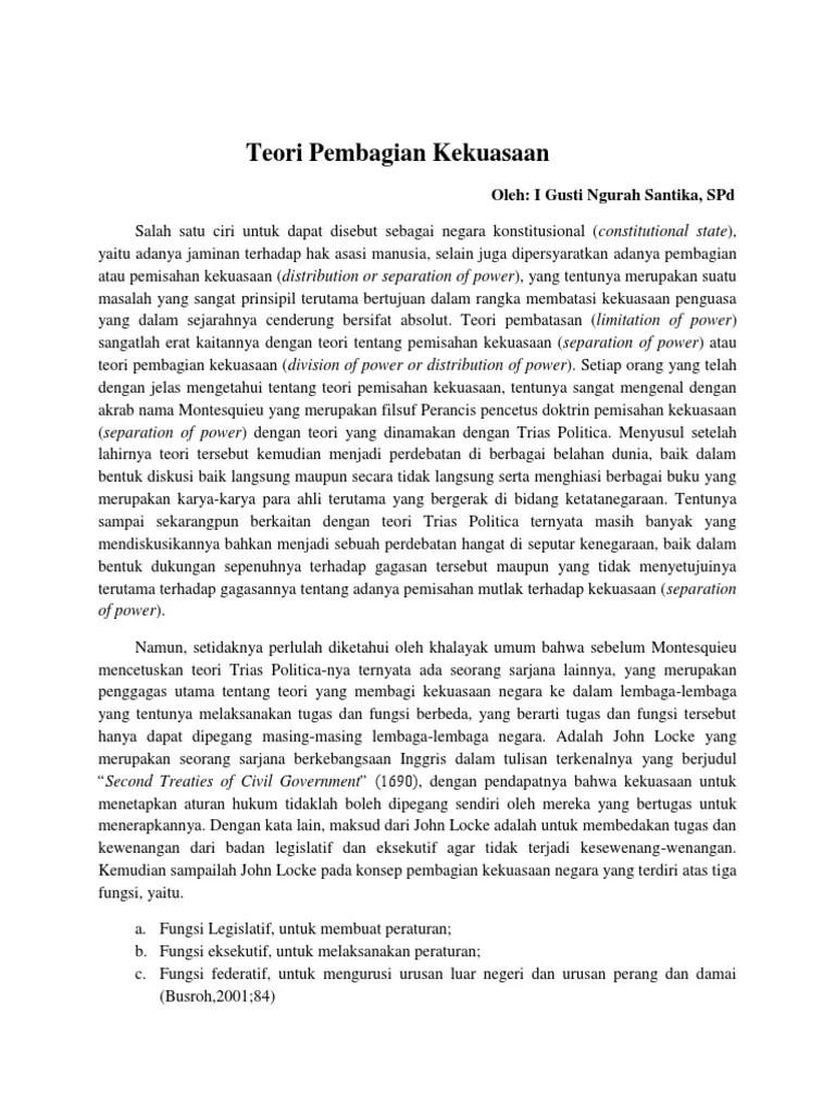 Teori Kekuasaan Menurut Montesquieu : teori, kekuasaan, menurut, montesquieu, Sebutkan, Teori, Pembagian, Kekuasaan, Menurut, Montesquieu, Mendetail
