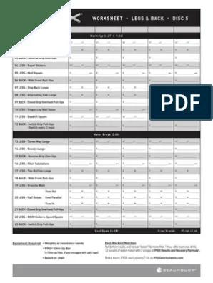 P90x Legs And Back Workout Sheet : workout, sheet, Worksheet