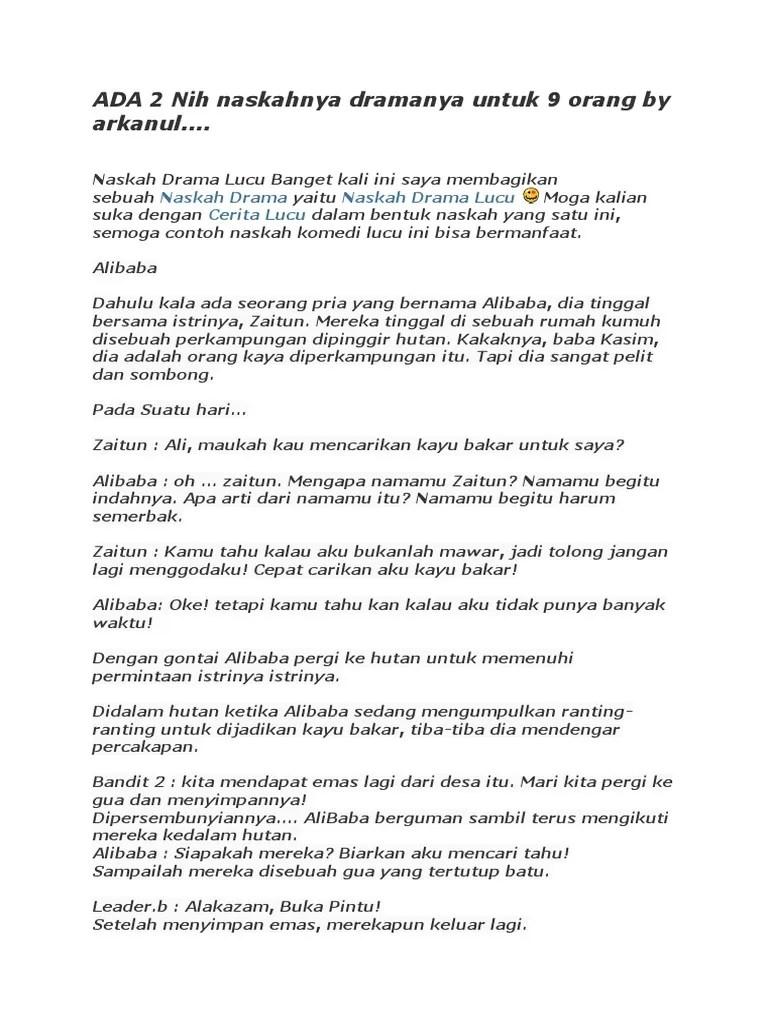 Naskah Drama Komedi Ovj 7 Orang : naskah, drama, komedi, orang, Contoh, Naskah, Drama, Komedi, Arkhanul