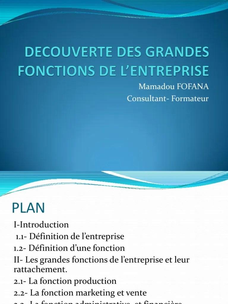 Les Fonctions De L Entreprise : fonctions, entreprise, DECOUVERTE, GRANDES, FONCTIONS, L'ENTREPRISE, Management, Qualité, Sodles