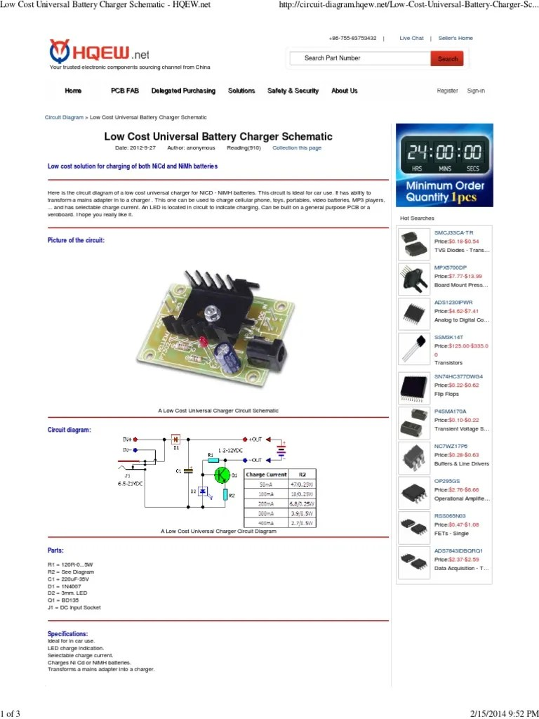 small resolution of low cost universal battery charger schematic hqew battery charger 181 views