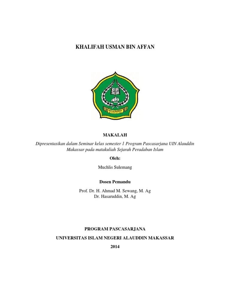 Keturunan Utsman Bin Affan : keturunan, utsman, affan, USMAN, AFFAN