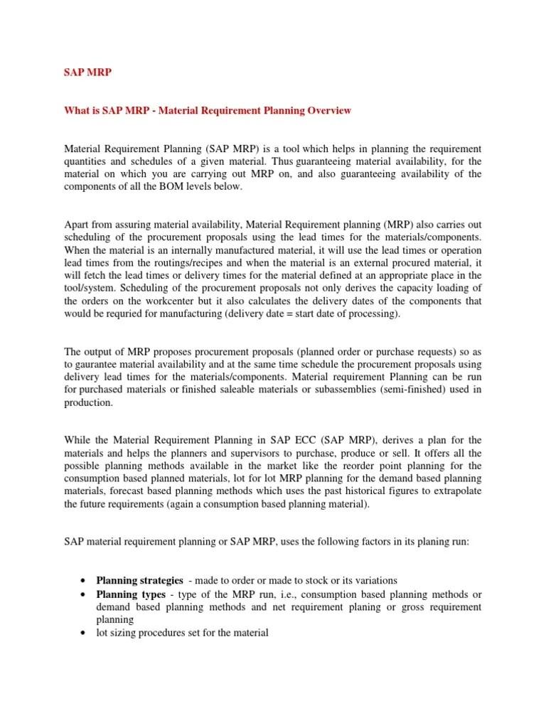 medium resolution of sap mrp enterprise resource planning commercial item transport and distribution