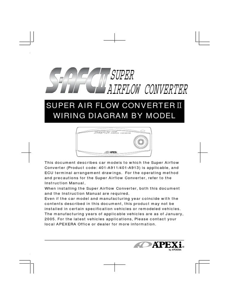 medium resolution of apexi installtion instruction manual safc 2 super air flow converter wiring diagram electrical connector 877 views