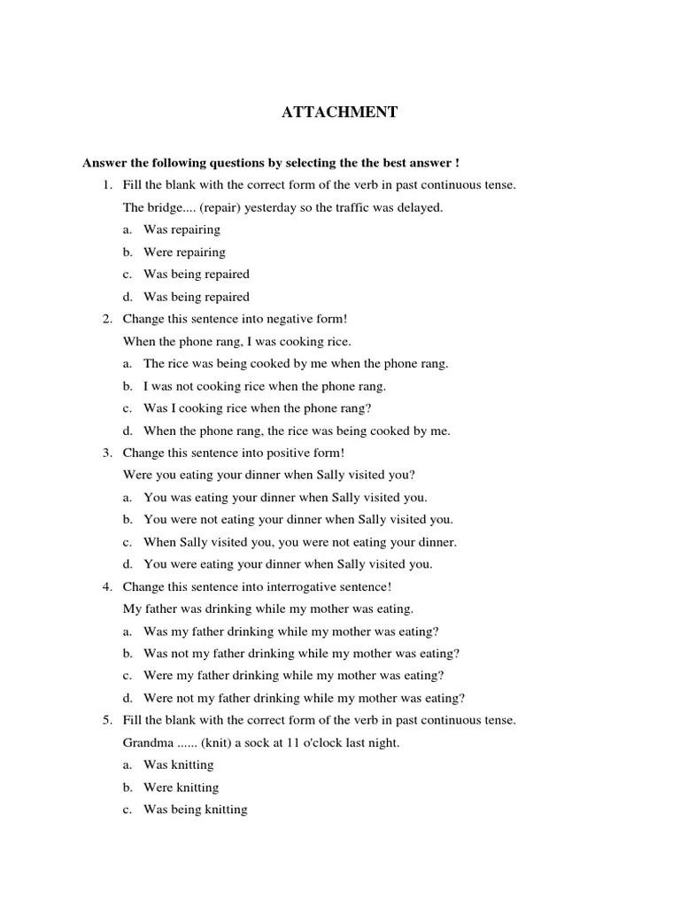 Contoh Soal Past Continuous Tense : contoh, continuous, tense, Kumpulan, Pilihan, Ganda, Tentang, Continuous, Tense