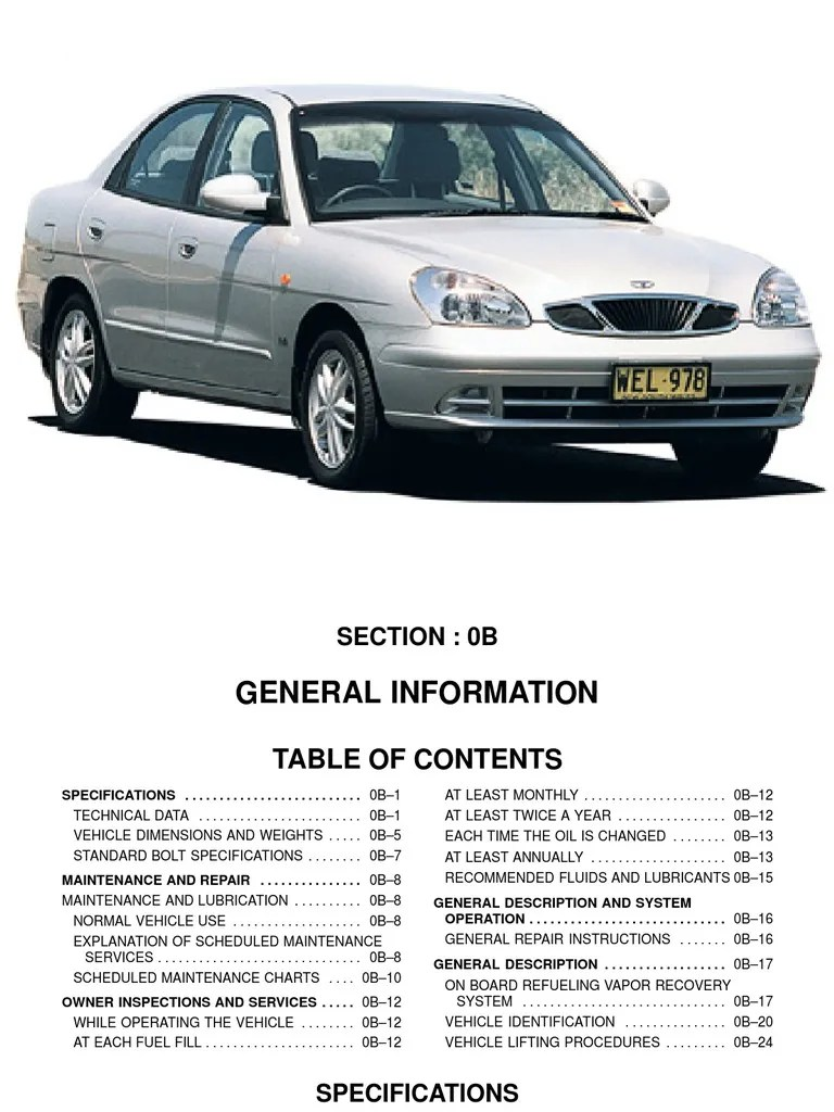 medium resolution of daewoo tacuma wiring diagram wiring library 2001 hyundai tiburon wiring diagram 2001 daewoo nubira wiring diagram