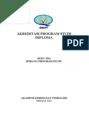 Borang Akreditasi Program Studi 2018 : borang, akreditasi, program, studi, Borang, Akreditasi, Prodi