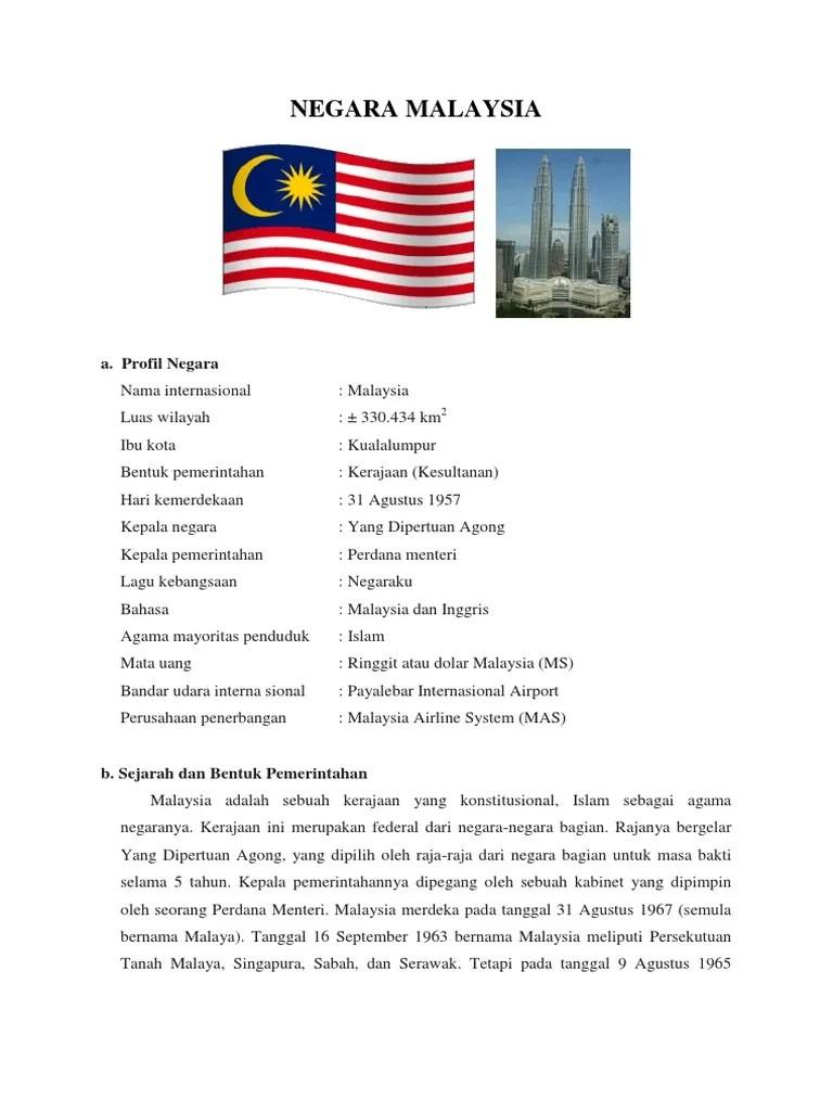 Negara Bagian Malaysia : negara, bagian, malaysia, Profil, Negara, Malaysia