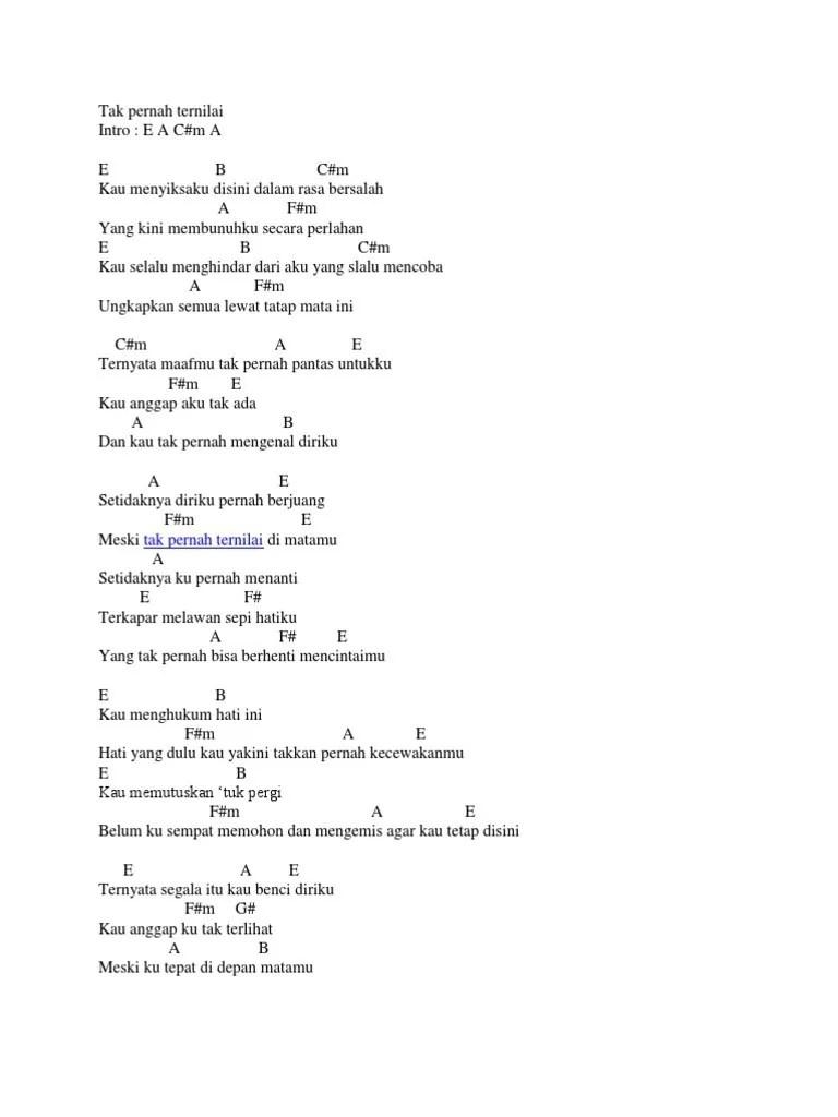 Chord Last Child Tak Pernah Ternilai : chord, child, pernah, ternilai, Kunci, Pernah, Ternilai