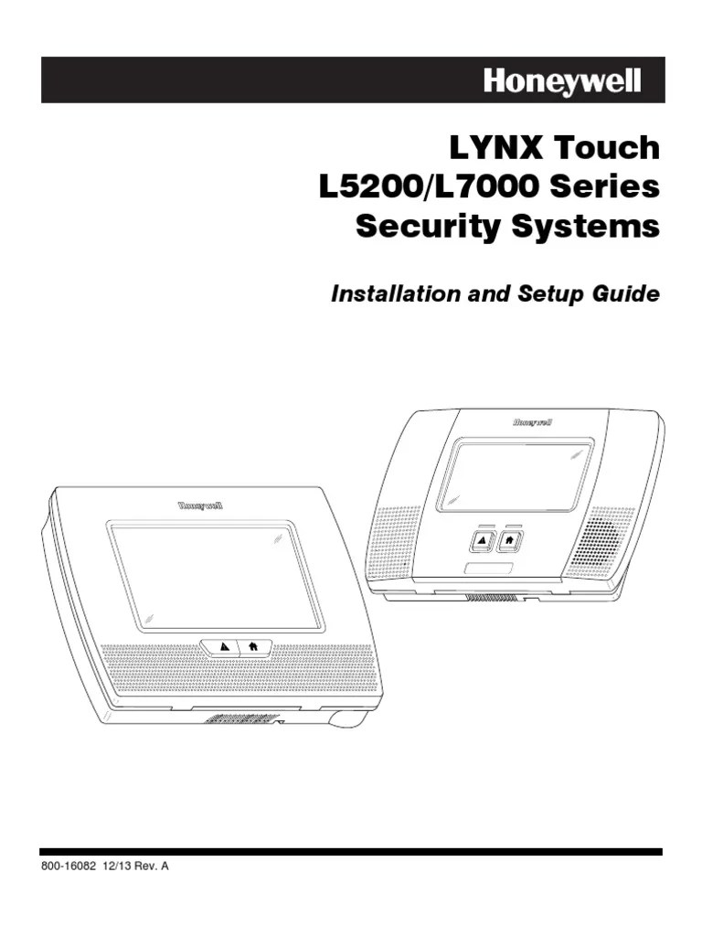 honeywell l5200 and l7000 installation manual and setup guide electrical connector security alarm [ 768 x 1024 Pixel ]