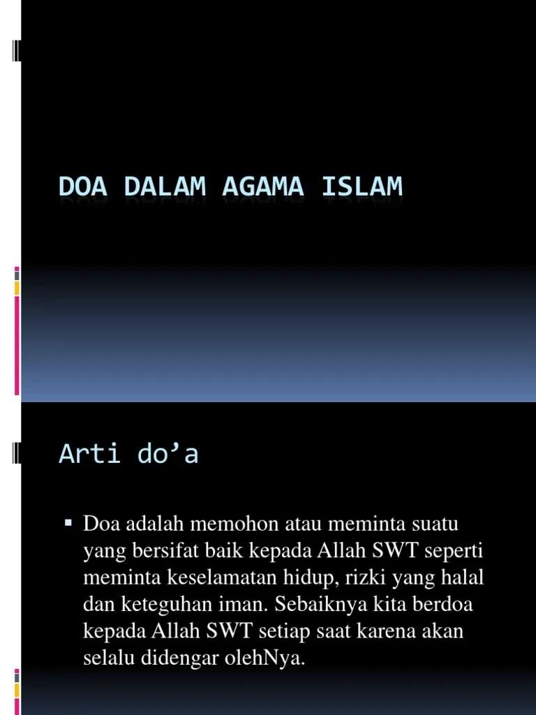 Pengertian Berdoa : pengertian, berdoa, Dalam, Agama, Islam