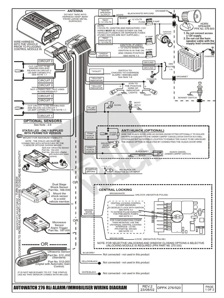 autowatch car alarm wiring diagram [ 768 x 1024 Pixel ]