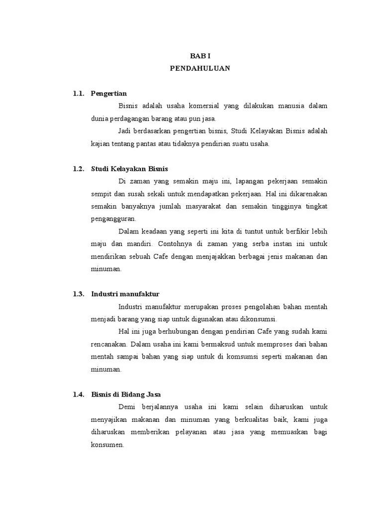 Contoh Proposal Studi Kelayakan Bisnis Usaha Restoran Berbagi Contoh Proposal Cute766
