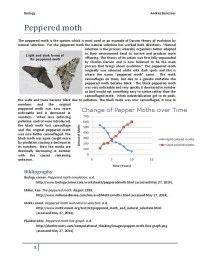 Peppered Moth Simulation Worksheet - Calleveryonedaveday
