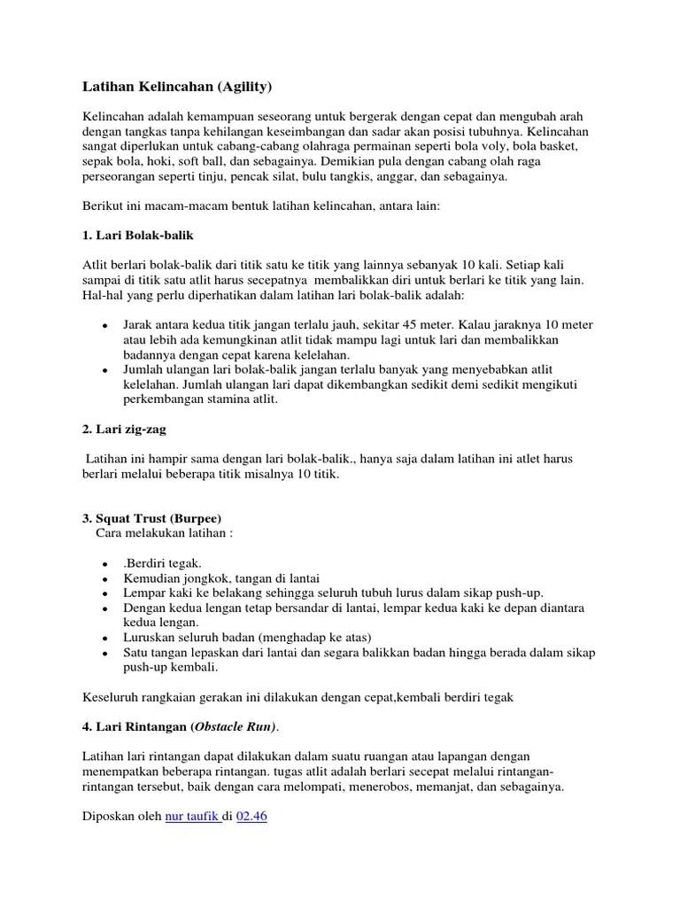 Bentuk Latihan Kelincahan : bentuk, latihan, kelincahan, Latihan, Kelincahan
