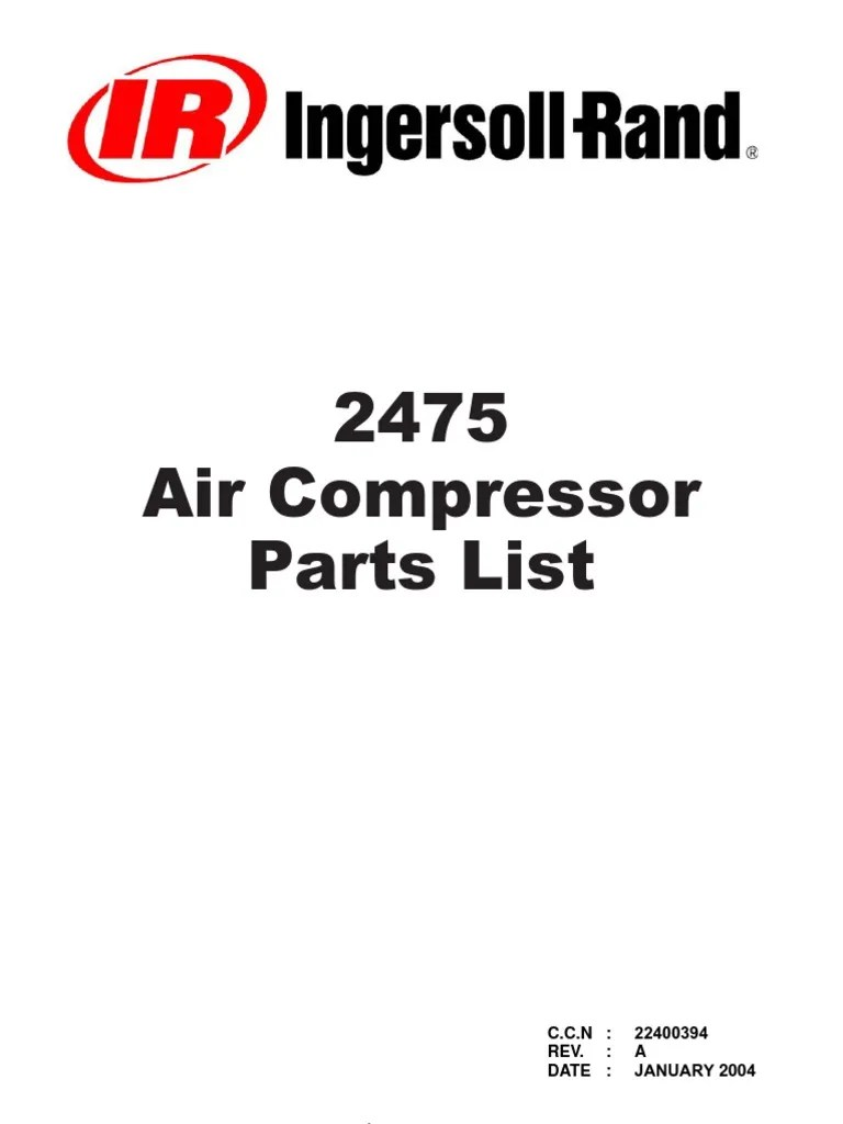 small resolution of ingersoll rand 2475n7 5 compressor wiring diagram