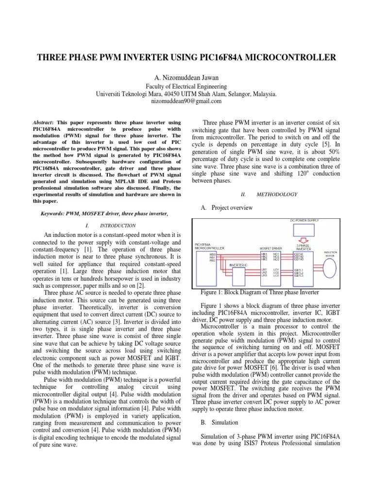 medium resolution of 3 phase inverter block diagram