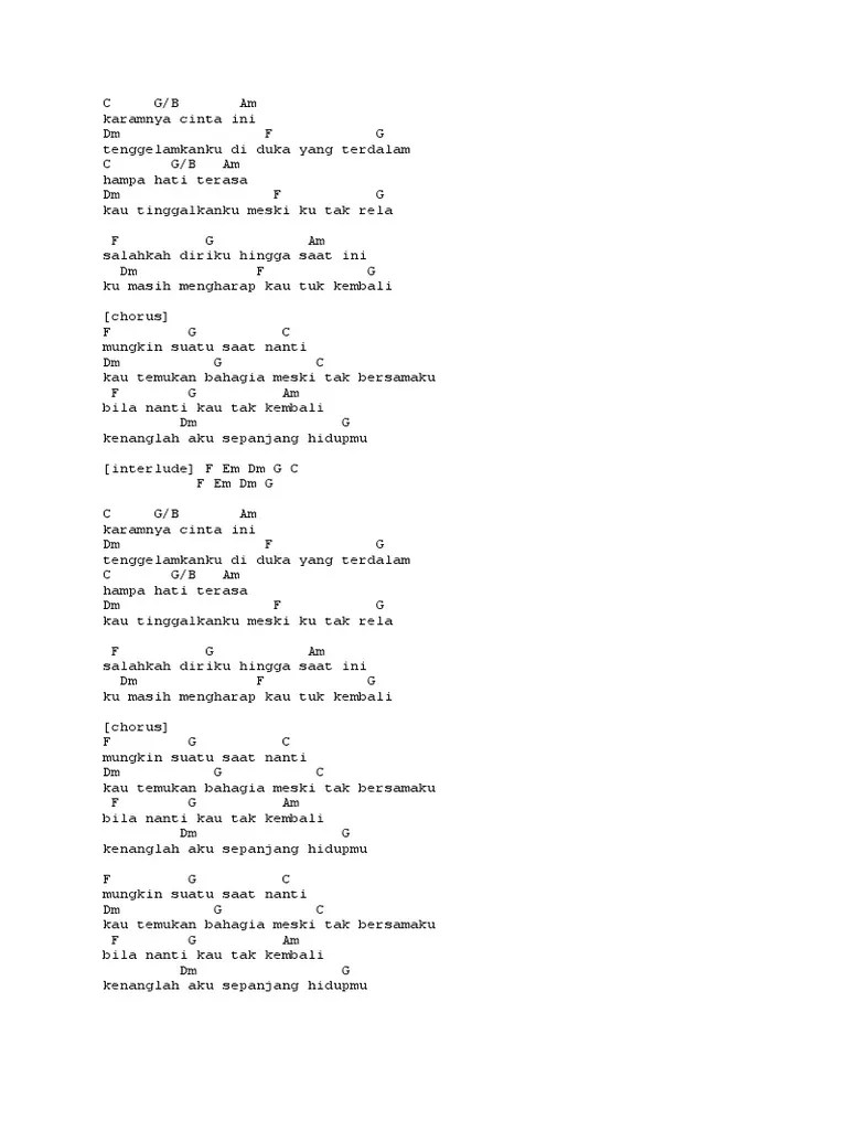 Chord Karamnya Cinta Ini : chord, karamnya, cinta, Chord, Lagu.docx
