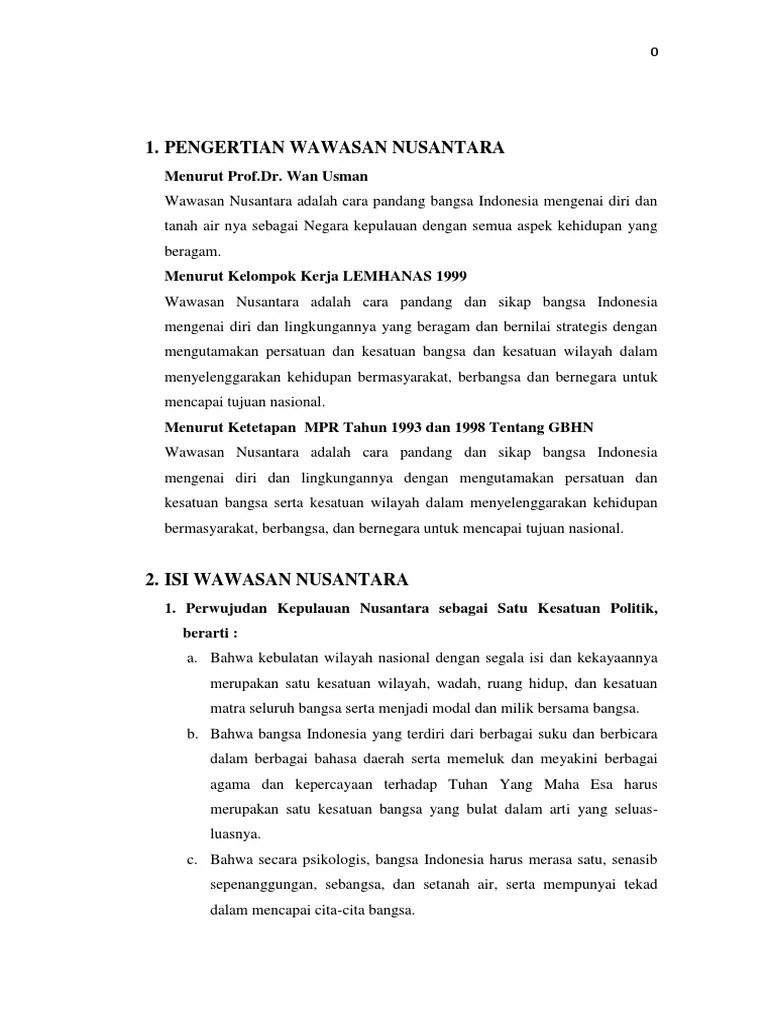 Indonesia Sebagai Satu Kesatuan Politik : indonesia, sebagai, kesatuan, politik, Makalah, Wawasan, Nusantara, Sebagai, Kesatuan, Politik,, Ekonomi,, Sosial,, Hankam