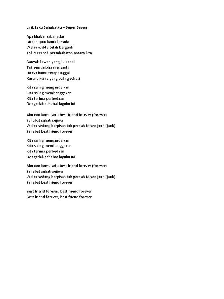 Lirik Lagu Kita Yg Beda : lirik, Lirik, Sahabatku