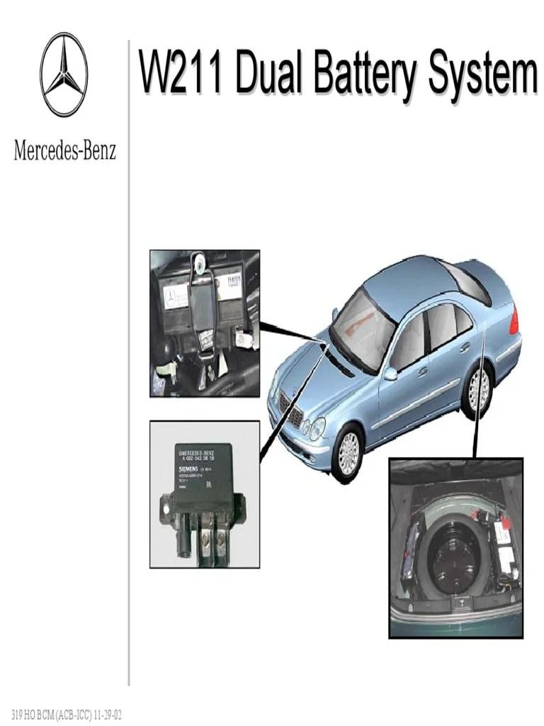 medium resolution of mercedes benz w211 dual battery system diagram wiring diagram show mercedes benz w211 dual battery system diagram