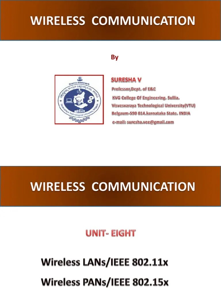 wireless communication wc unit 8 vtu ec students wireless lan ieee 802 11 [ 768 x 1024 Pixel ]