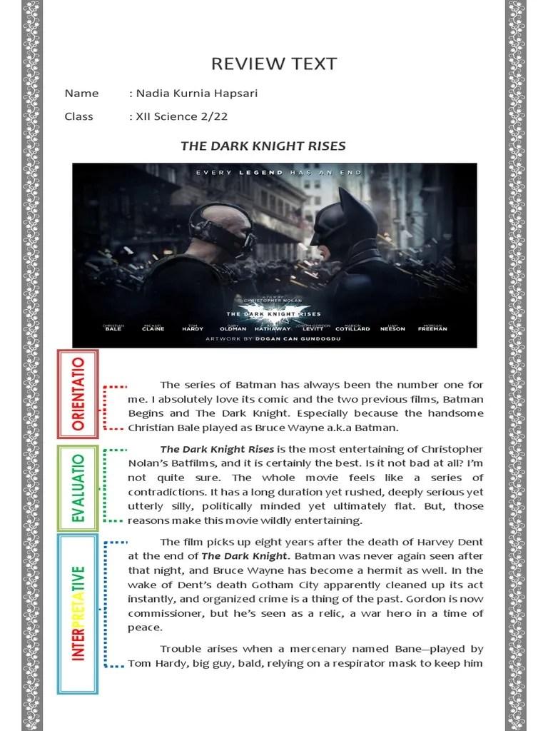 Contoh Review Text Film : contoh, review, Contoh, Tugas, Bahasa, Inggris, Review, Batman, Leisure