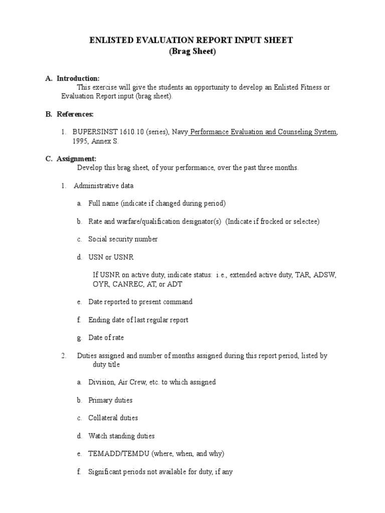 brag sheet template