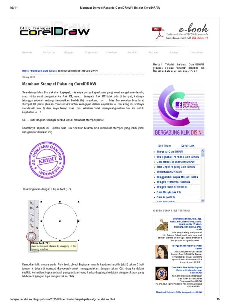 Cara Buat Stempel Di Corel : stempel, corel, Membuat, Stempel, Palsu, CorelDRAW, Belajar, CorelDRAW.pdf