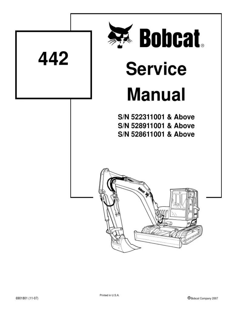 hight resolution of bobcat 442 mini excavator service manual adult bobcat diagrams bobcat intake diagram