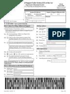 Sample Form I-864, Affidavit of Support
