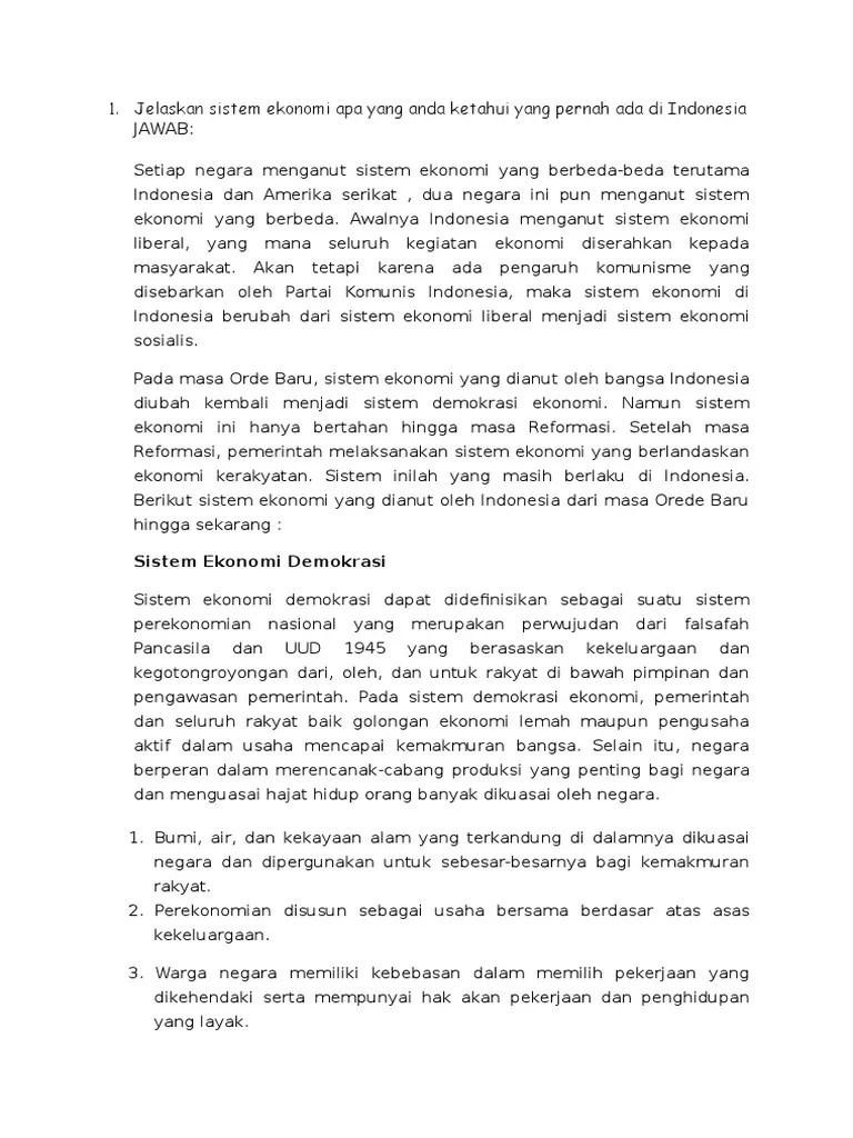 Indonesia Menganut Sistem Ekonomi : indonesia, menganut, sistem, ekonomi, Jelaskan, Sistem, Ekonomi, Ketahui, Pernah, Indonesia