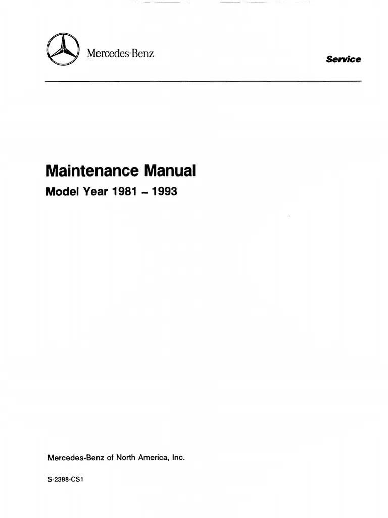 medium resolution of mercedes series 107 123 124 126 129 140 201 maintenance manual 1981 1993 motor oil screw