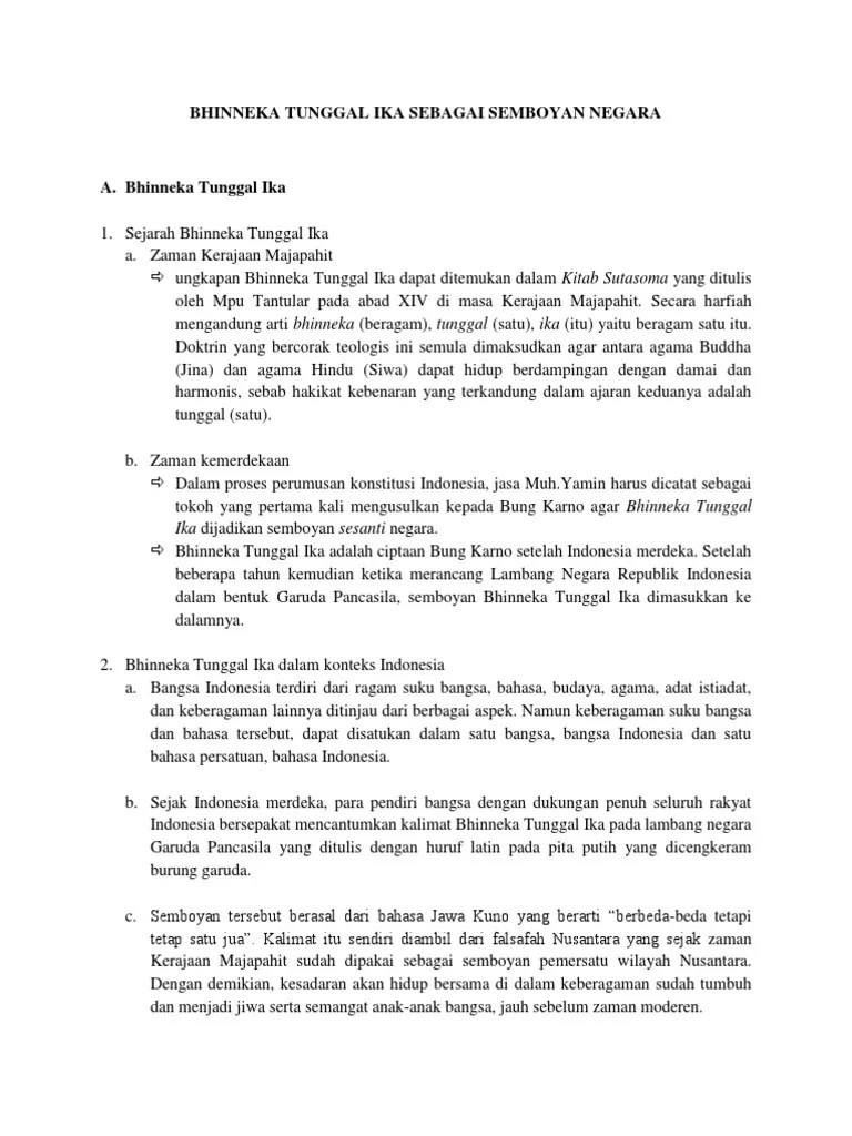Kalimat Bhinneka Tunggal Ika Berasal Dari : kalimat, bhinneka, tunggal, berasal, Bhinneka, Tunggal, Sebagai, Semboyan, Negara