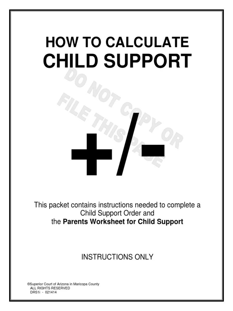 Worksheets Child Support Worksheet Az az child support worksheet free worksheets library download and to c lcul te supp t structi s drs1iz t