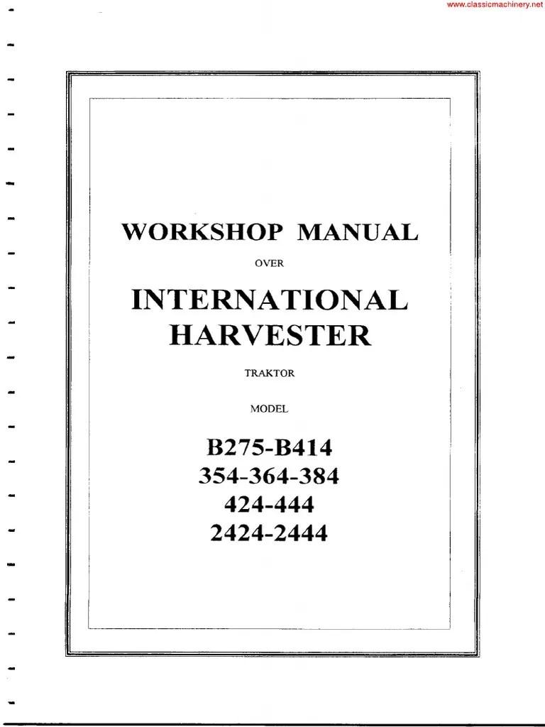 hight resolution of international 384 wiring diagram