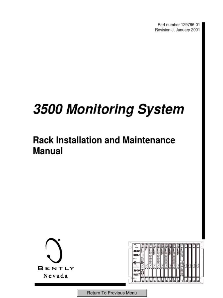 3500 monitoring system rack installation and maintenance manu printed circuit board programmable logic controller [ 768 x 1024 Pixel ]