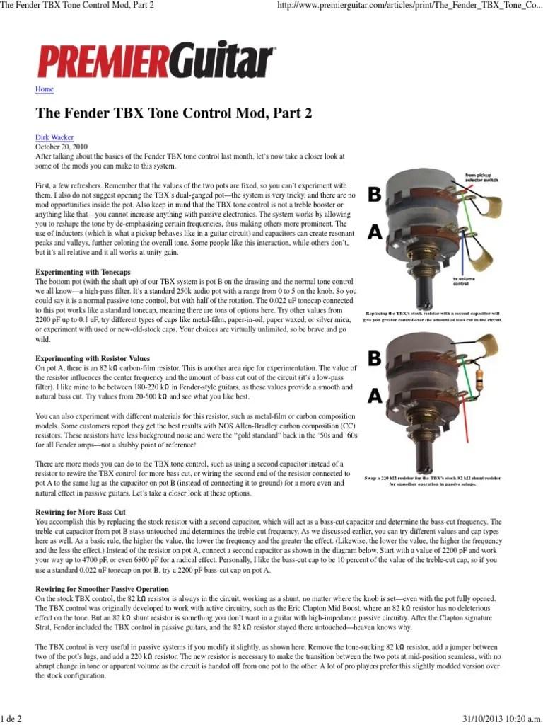 medium resolution of fender tbx tone