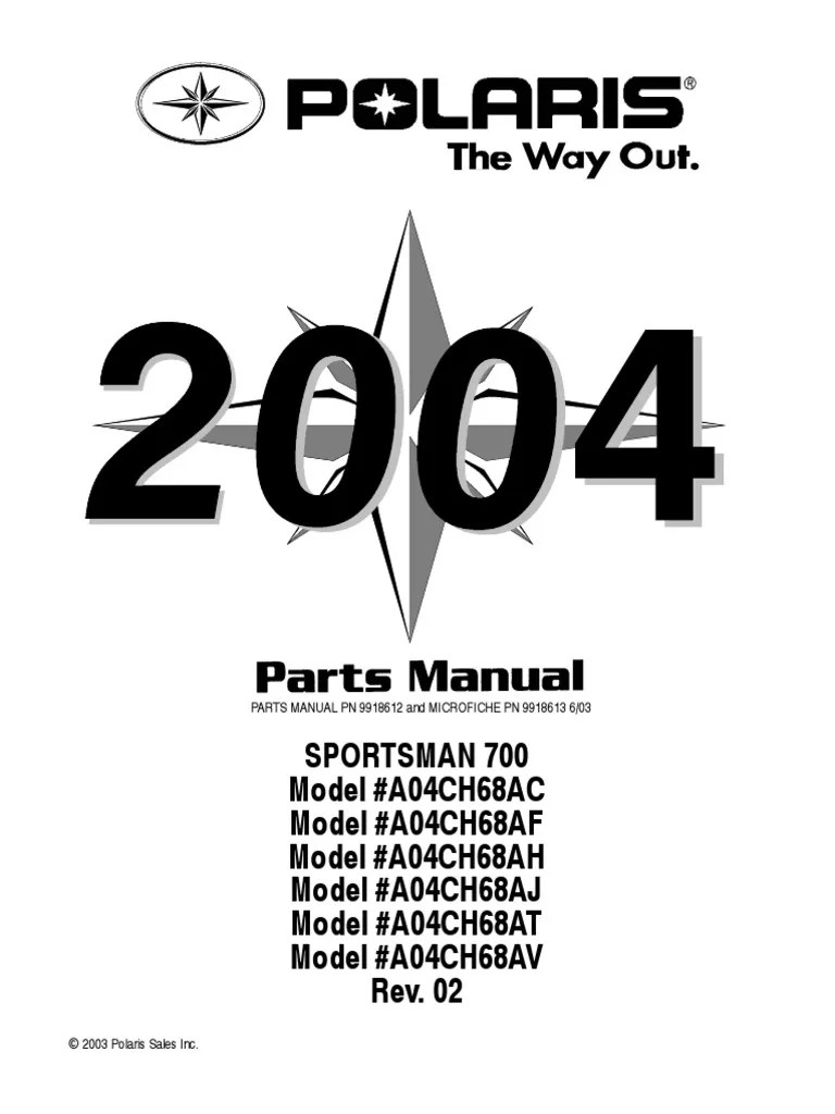 medium resolution of 2004 polari sportsman 700 manual