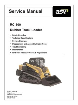ASV RC100 Service Manual | Asbestos | Dust
