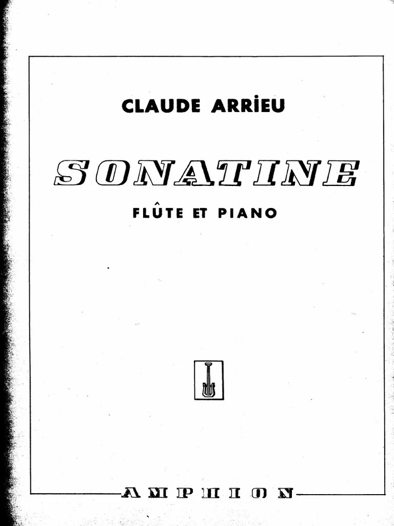 Arrieu Flute Sonatine FL and PNO Part