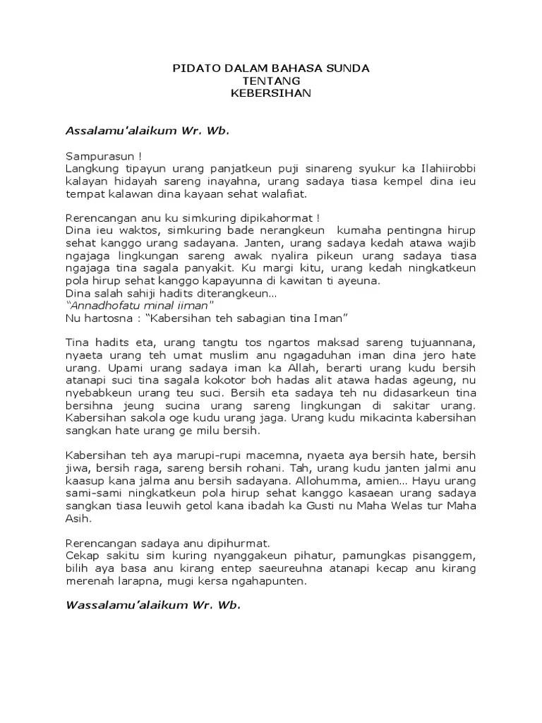 Naskah Pidato Bahasa Sunda : naskah, pidato, bahasa, sunda, Contoh, Pidato, Bahasa, Sunda, Pendek, Dunia, Belajar