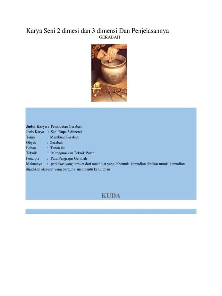 Tema Karya Seni Rupa 3 Dimensi : karya, dimensi, Karya, Dimesi, Dimensi, Penjelasannya