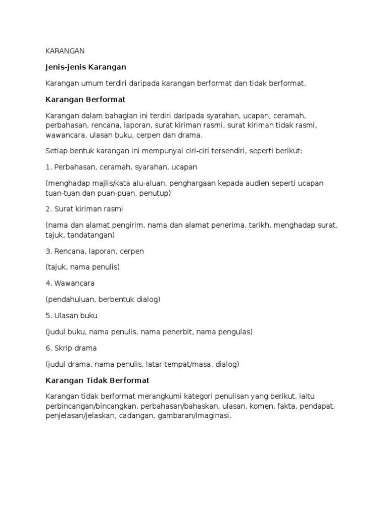 Nota Rumusan Karangan Spm Cute766
