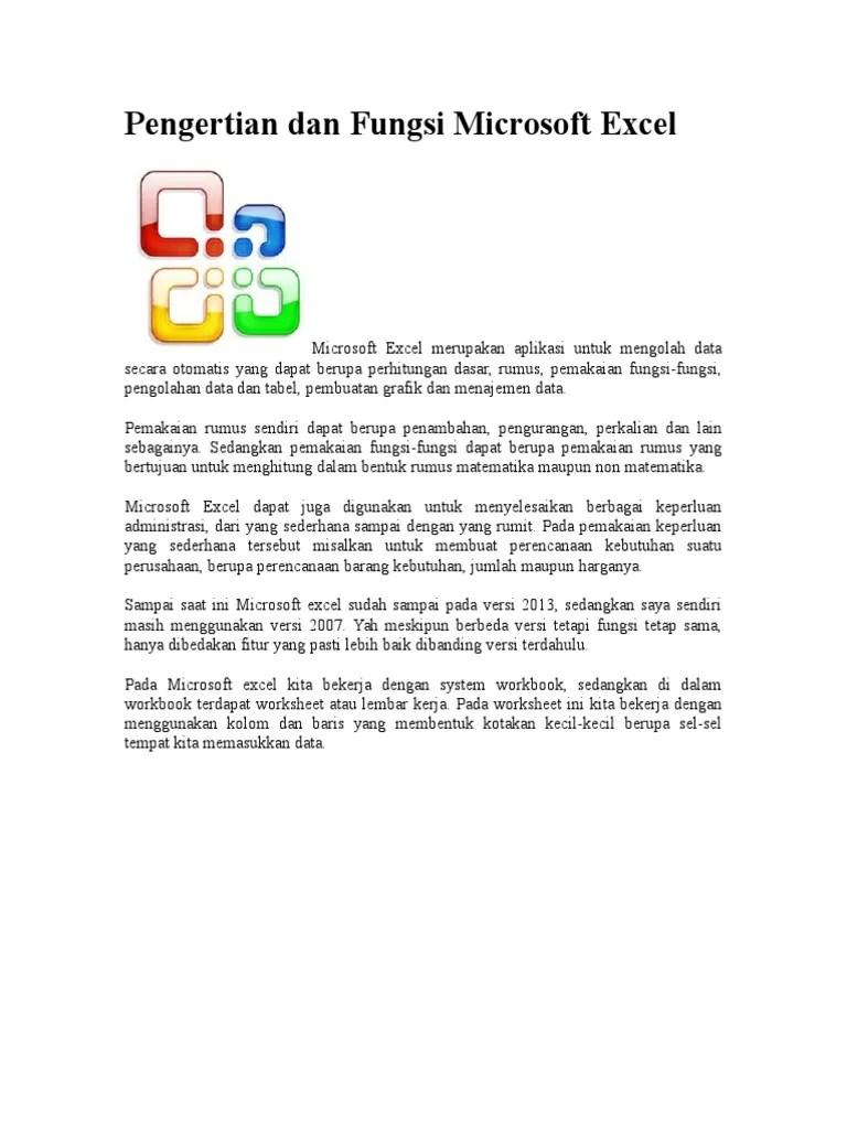 Pengertian Microsoft Excel : pengertian, microsoft, excel, Pengertian, Fungsi, Microsoft, Excel