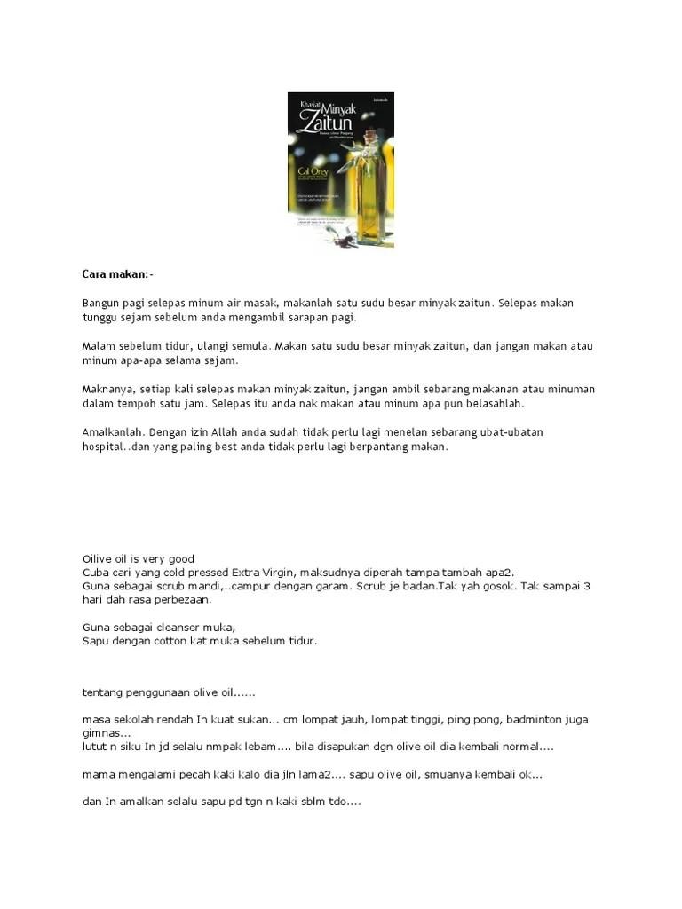 Cara Mengkonsumsi Minyak Zaitun : mengkonsumsi, minyak, zaitun, Makan, Minyk, Zaitun