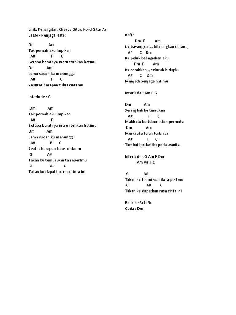 Chord Ari Lasso Seandainya : chord, lasso, seandainya, Kunci, Gitar, Aljufri